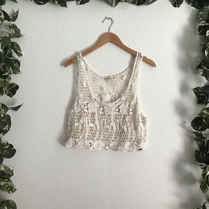 Hollister Crochet Crop Top